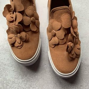 See by Chloe Peach Suede Slip On Loafers